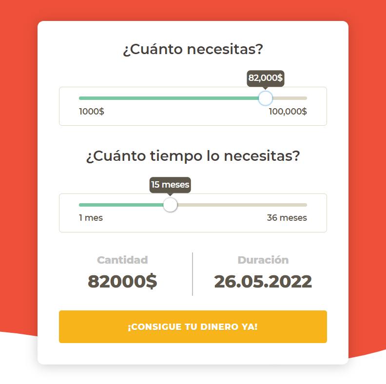 Simulador de prestamos cash rush México