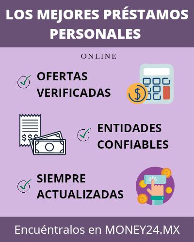 Los mejores préstamos personales infografía