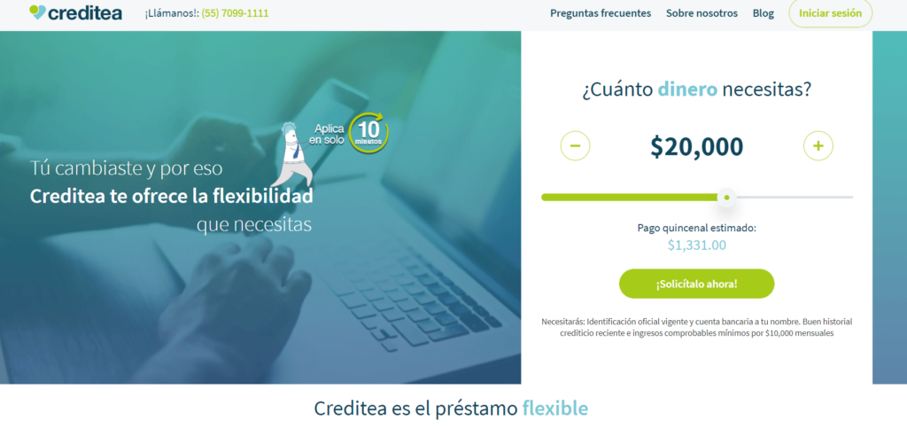 Creditea préstamos México